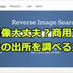 商用可能?ブログとホームページに載せている画像は大丈夫?3つのポイントと画像の出所を調べる方法